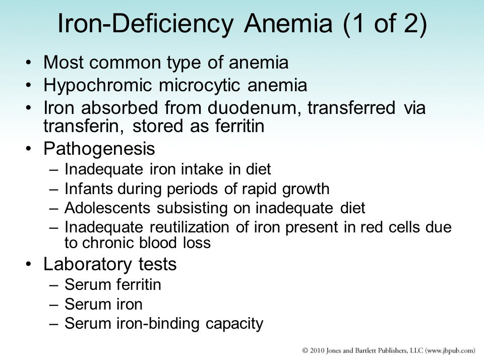 Iron-Deficiency Anemia (1 of 2)
