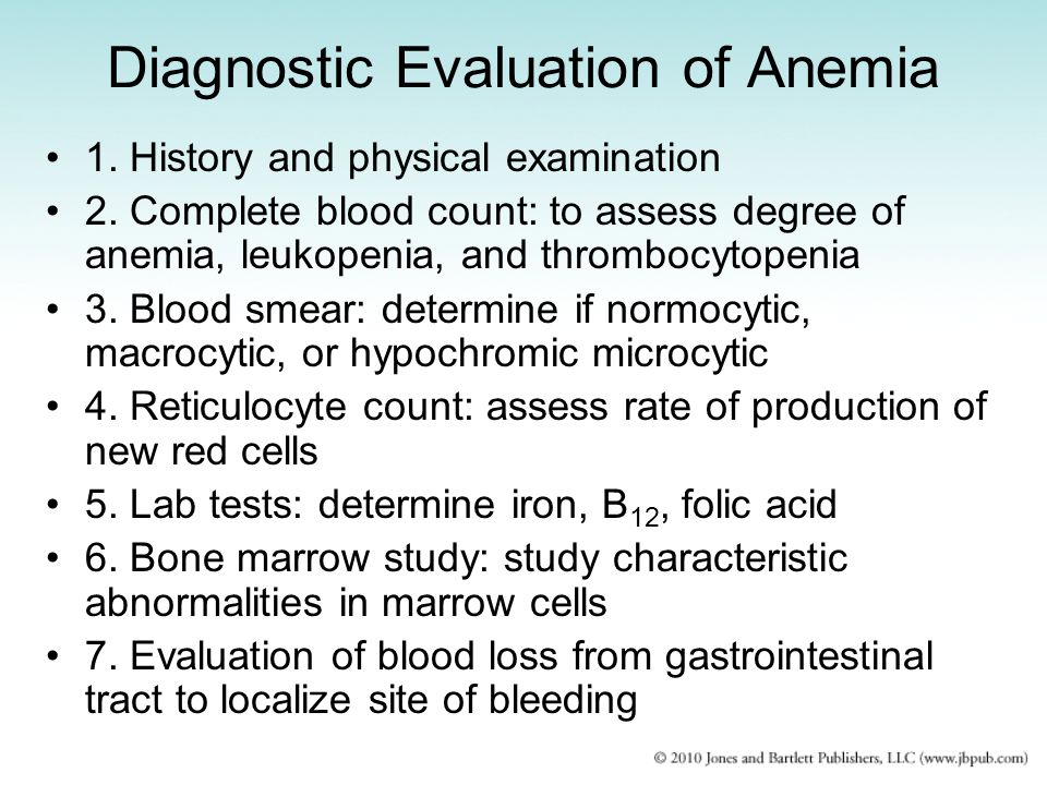Diagnostic Evaluation of Anemia