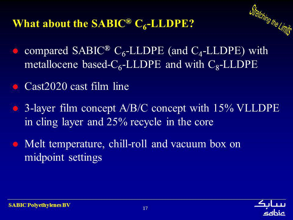 What about the SABIC® C6-LLDPE