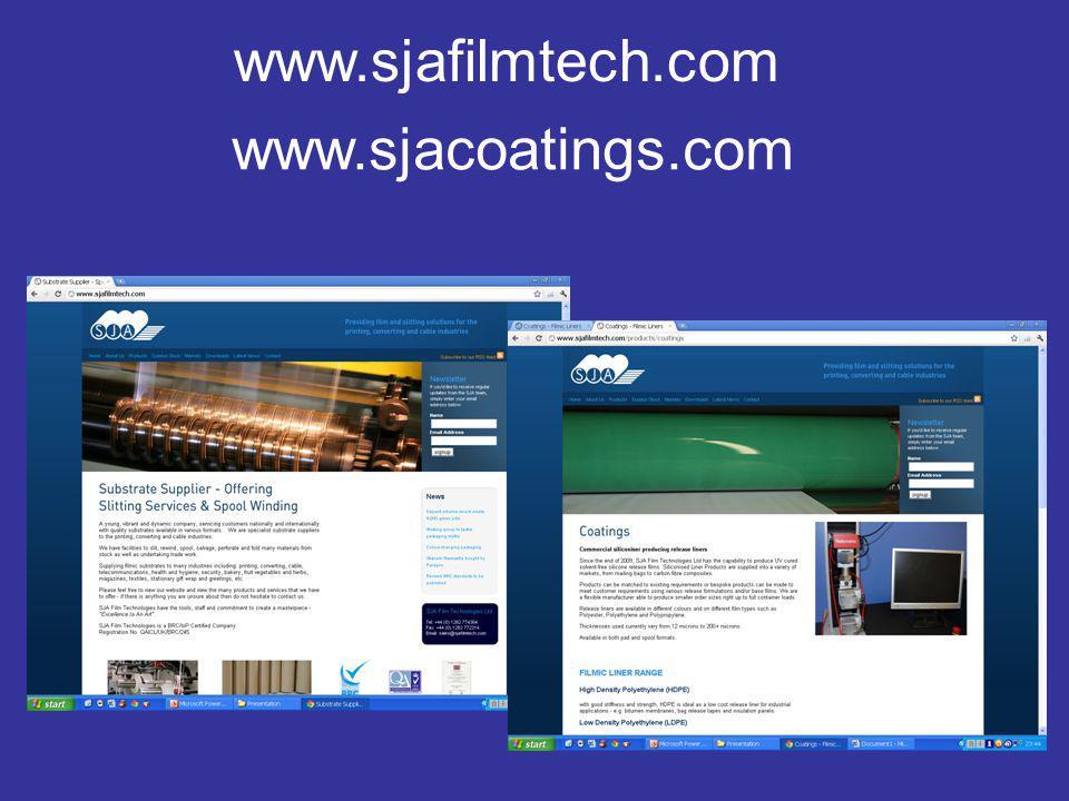 www.sjafilmtech.com www.sjacoatings.com