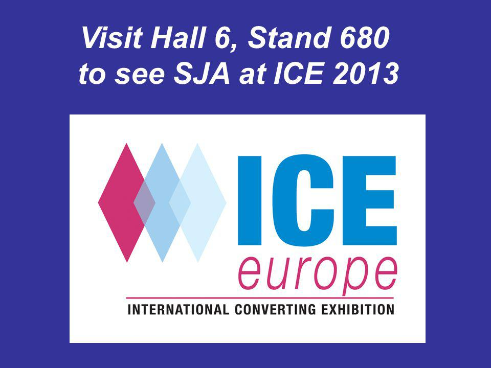 Visit Hall 6, Stand 680 to see SJA at ICE 2013