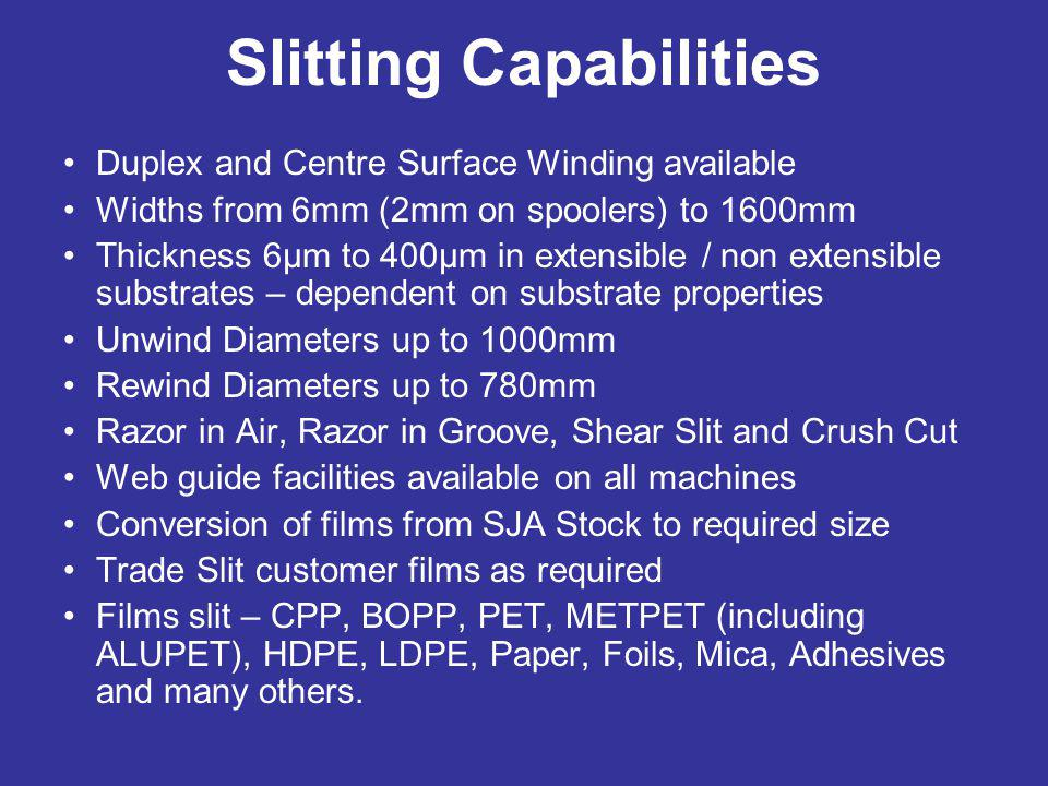 Slitting Capabilities