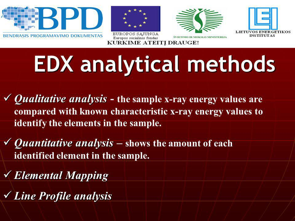 EDX analytical methods