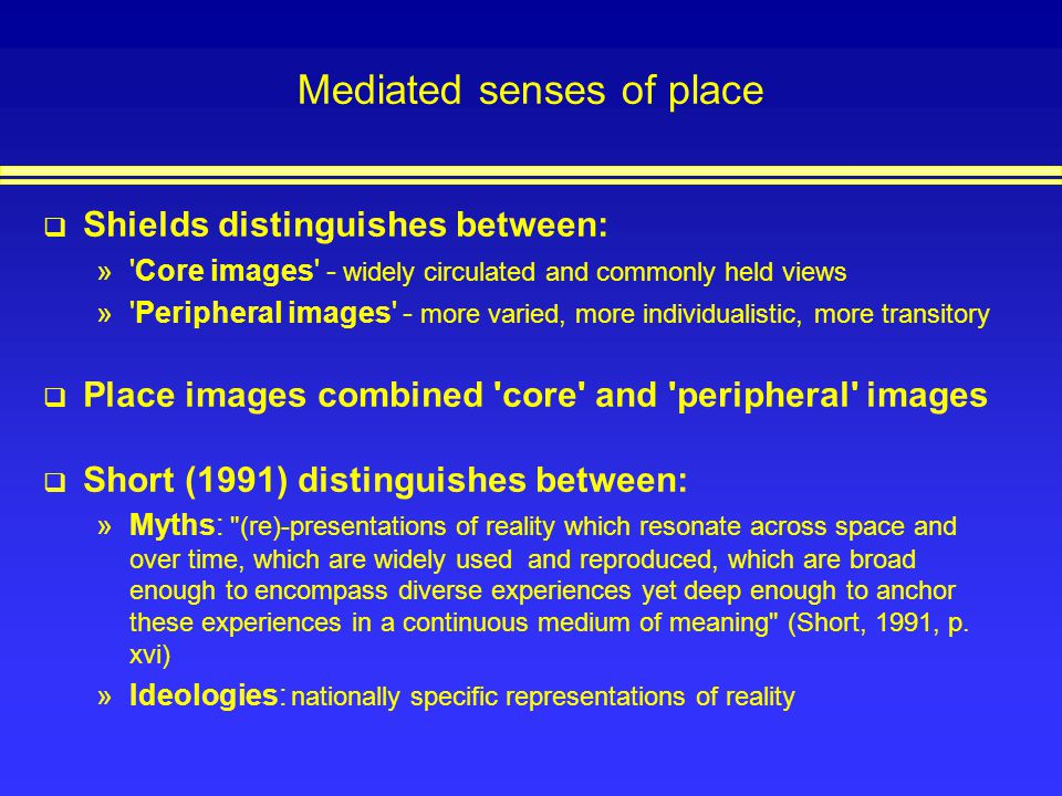 Mediated senses of place