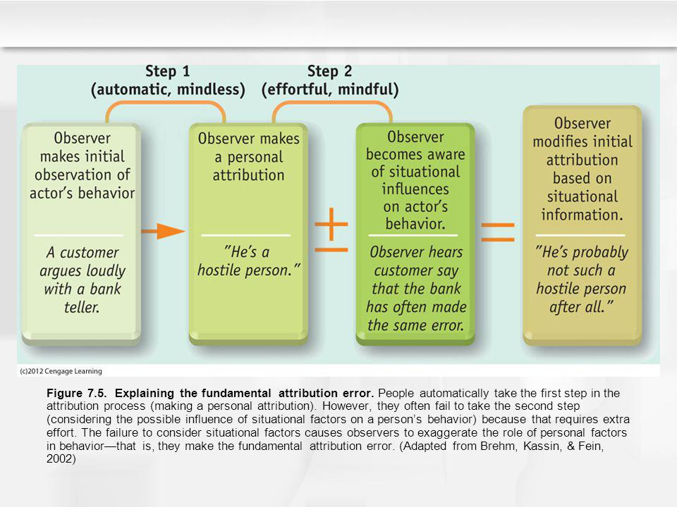 Figure 7. 5. Explaining the fundamental attribution error
