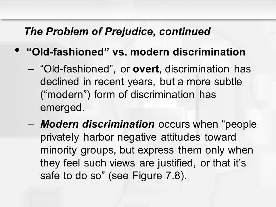 The Problem of Prejudice, continued