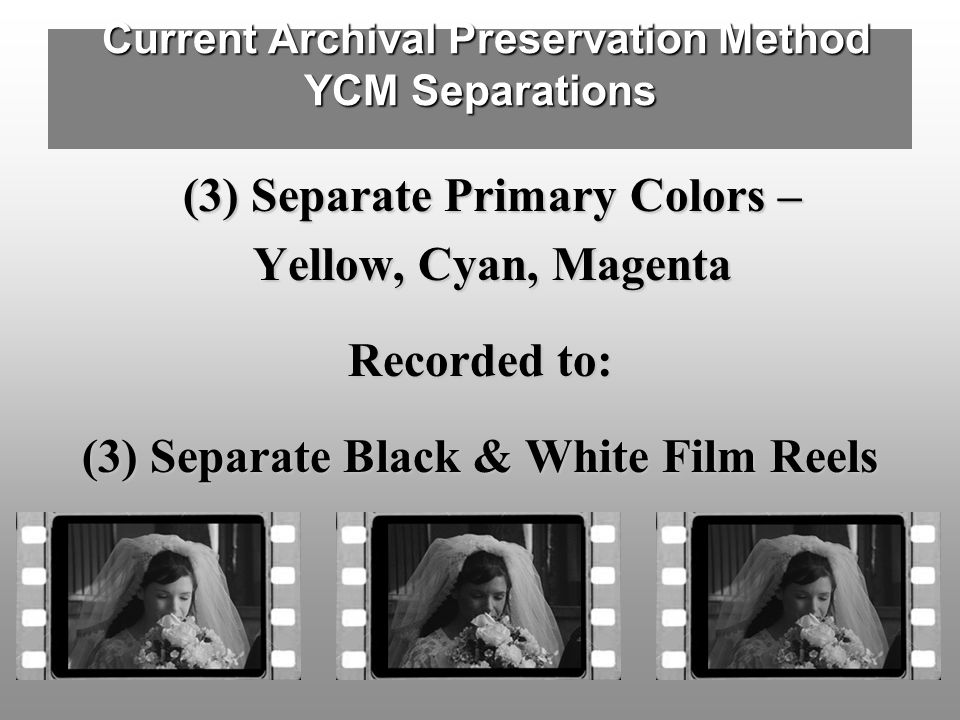 Current Archival Preservation Method YCM Separations