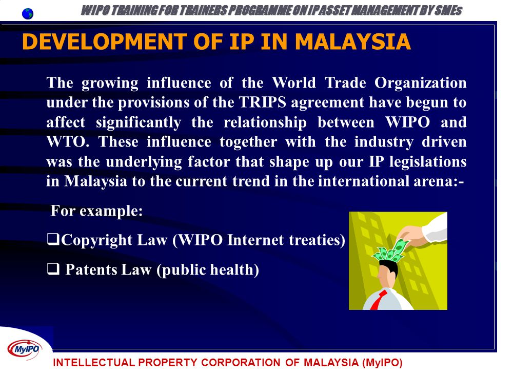 WIPO TRAINING FOR TRAINERS PROGRAMME ON IP ASSET MANAGEMENT BY SMEs