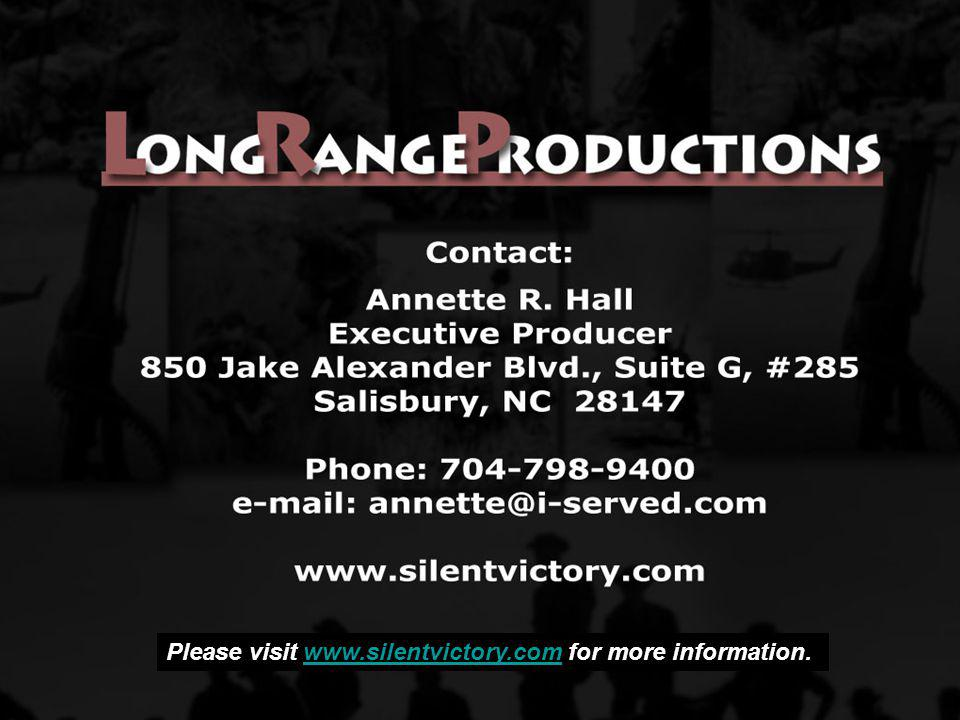 Please visit www.silentvictory.com for more information.