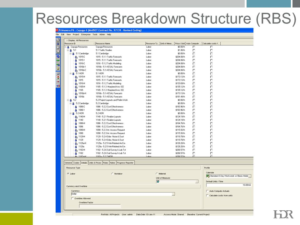 Resources Breakdown Structure (RBS)