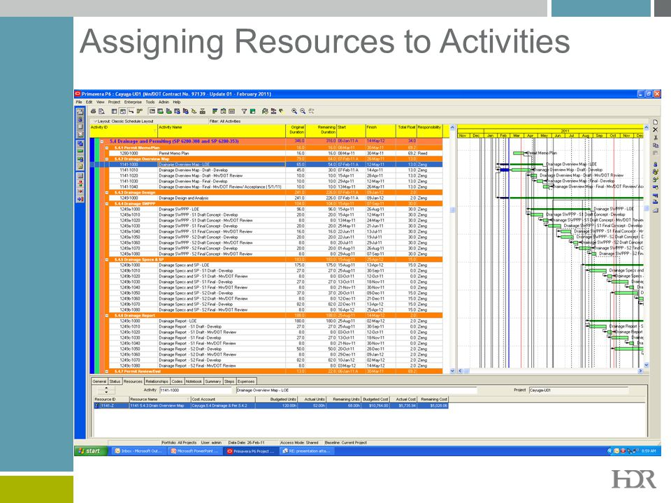 Assigning Resources to Activities