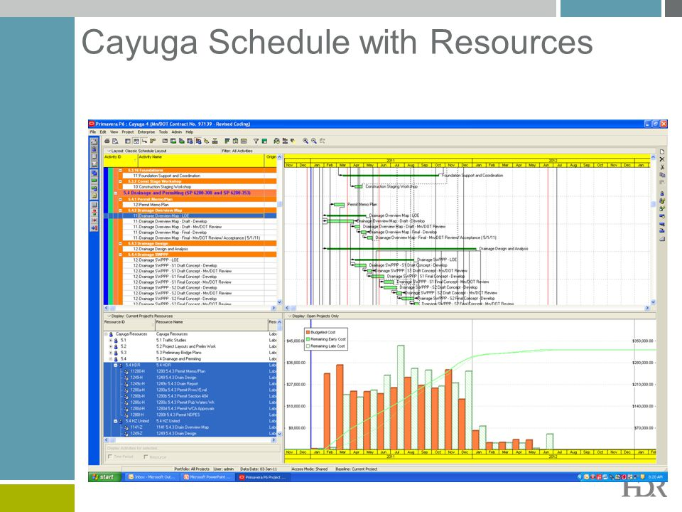 Cayuga Schedule with Resources
