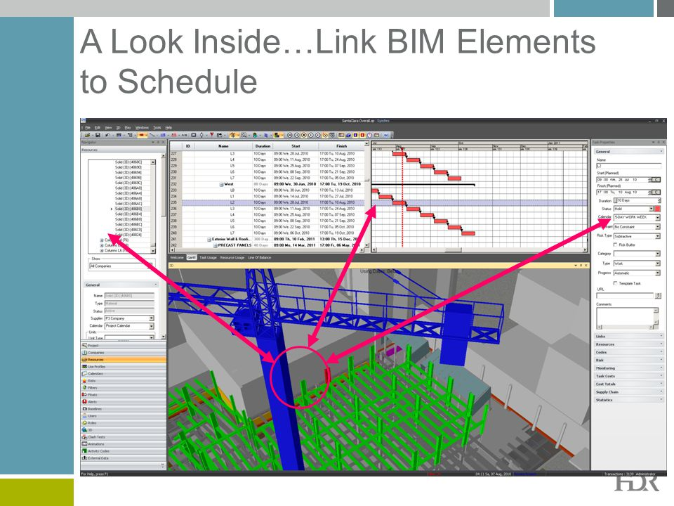 A Look Inside…Link BIM Elements to Schedule