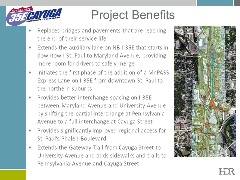 Project Benefits Replaces bridges and pavements that are reaching the end of their service life.