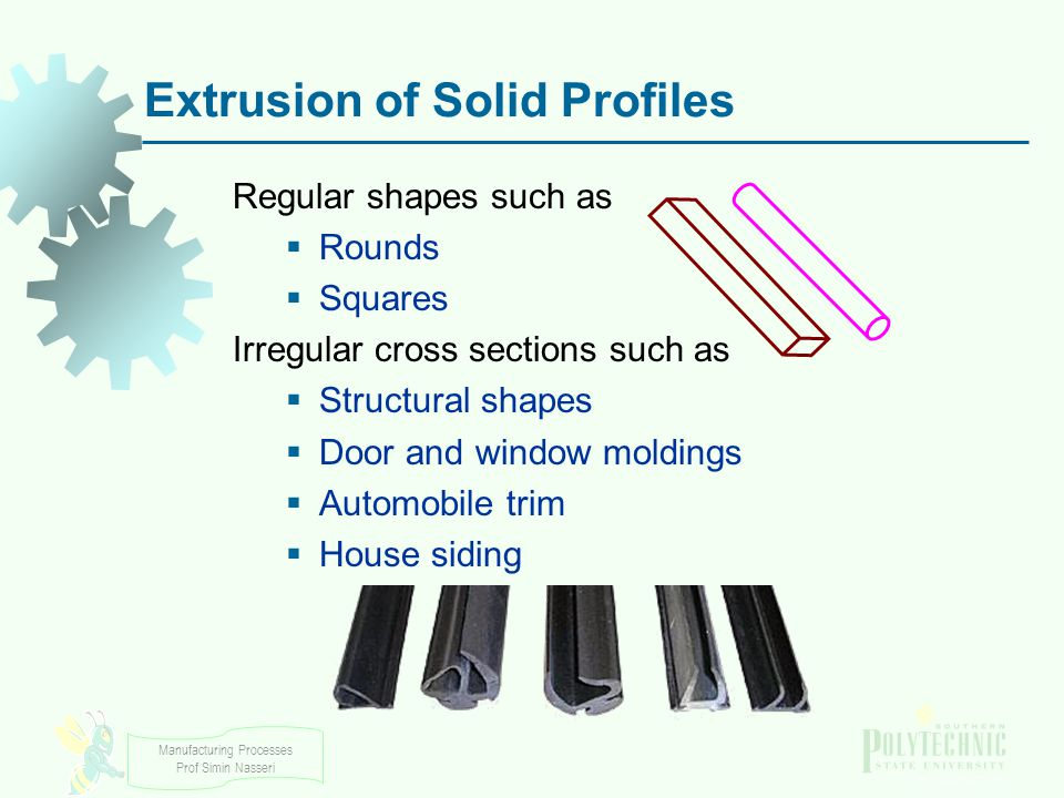 Extrusion of Solid Profiles