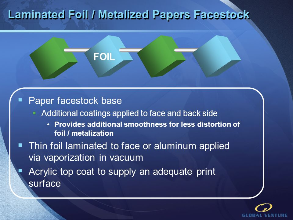 Laminated Foil / Metalized Papers Facestock