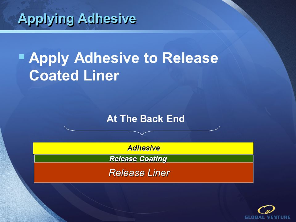 Apply Adhesive to Release Coated Liner