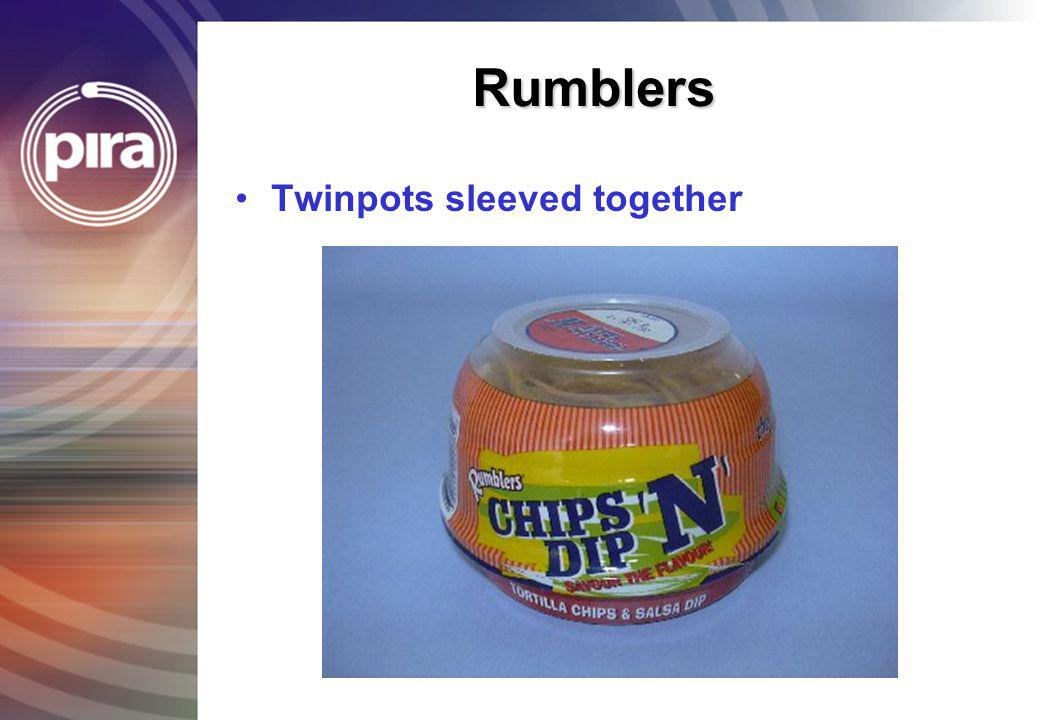 Rumblers Twinpots sleeved together