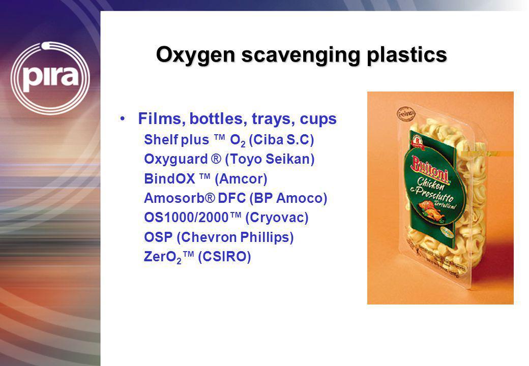 Oxygen scavenging plastics