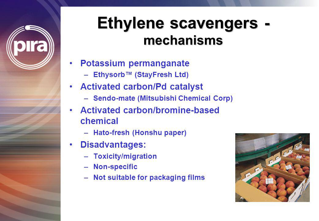 Ethylene scavengers - mechanisms