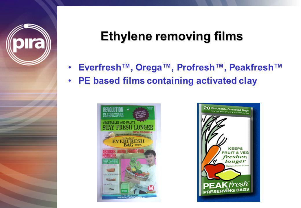 Ethylene removing films
