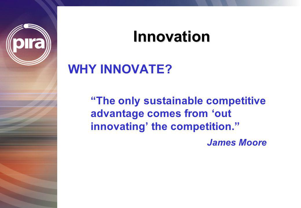 Innovation WHY INNOVATE
