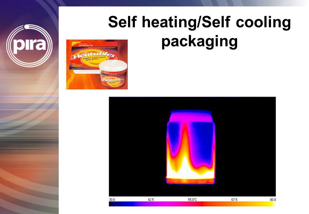 Self heating/Self cooling packaging
