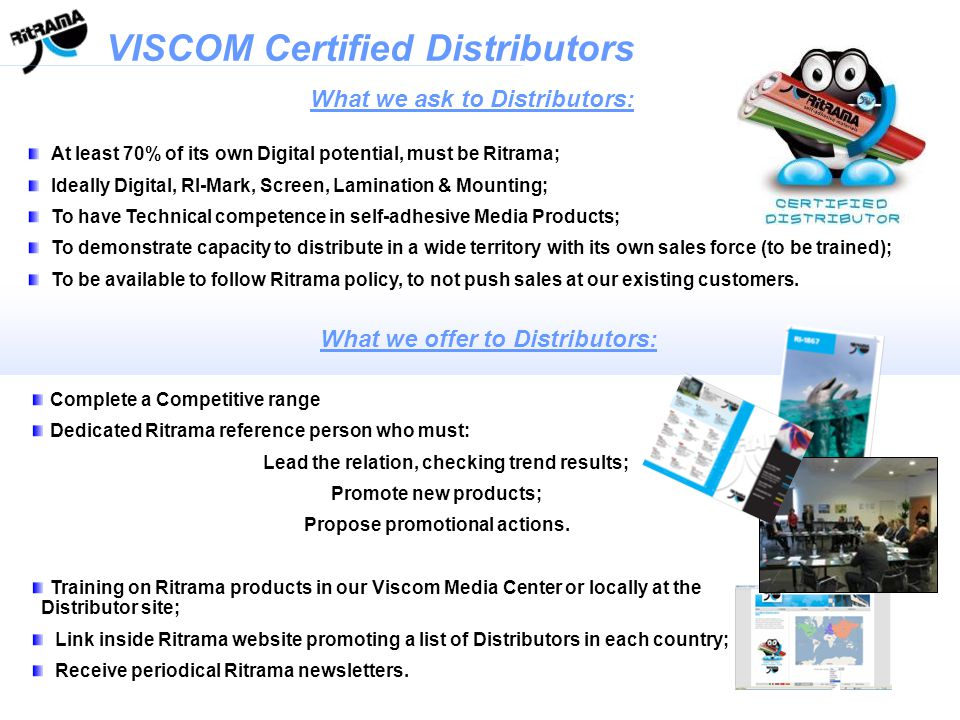 VISCOM Certified Distributors