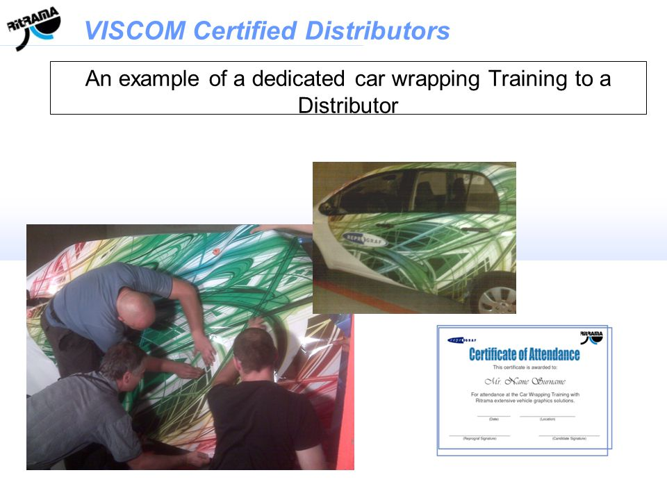 An example of a dedicated car wrapping Training to a Distributor