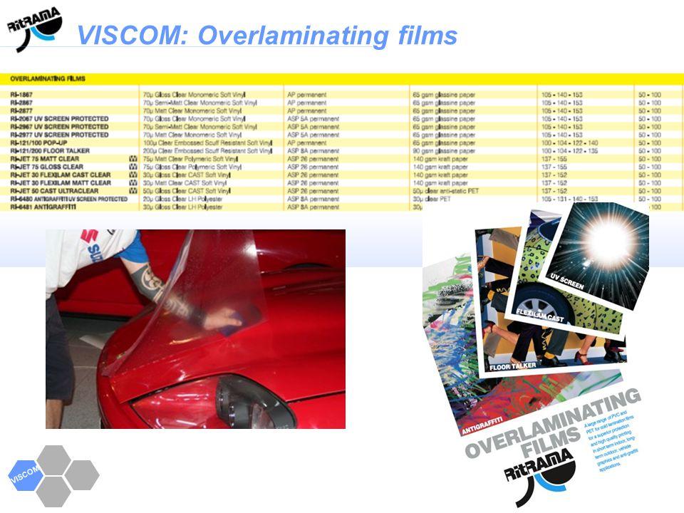 VISCOM: Overlaminating films