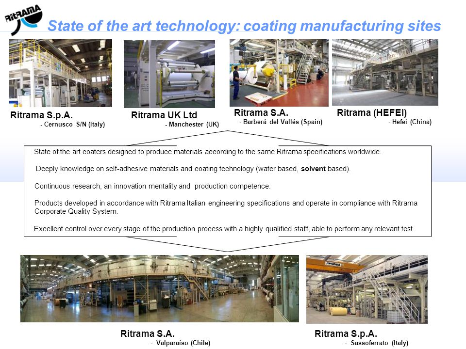State of the art technology: coating manufacturing sites