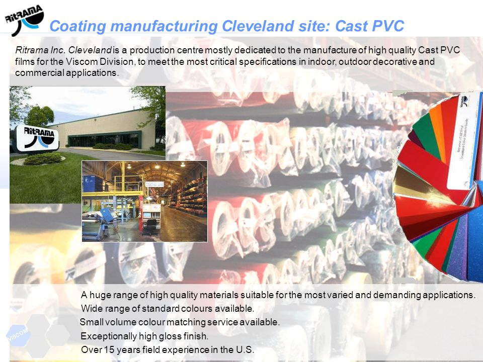 Coating manufacturing Cleveland site: Cast PVC