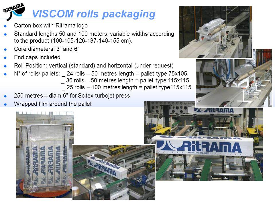 VISCOM rolls packaging