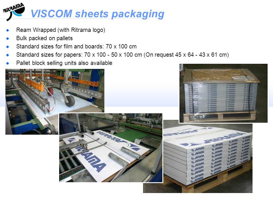 VISCOM sheets packaging