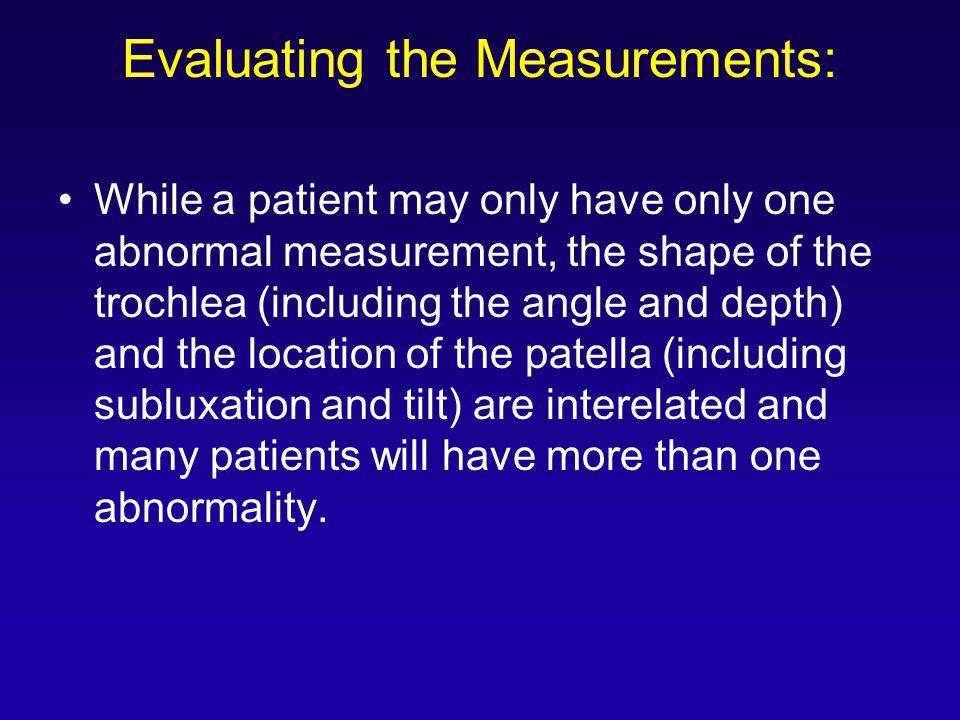 Evaluating the Measurements:
