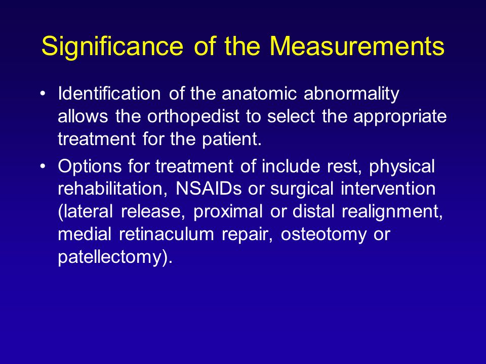 Significance of the Measurements