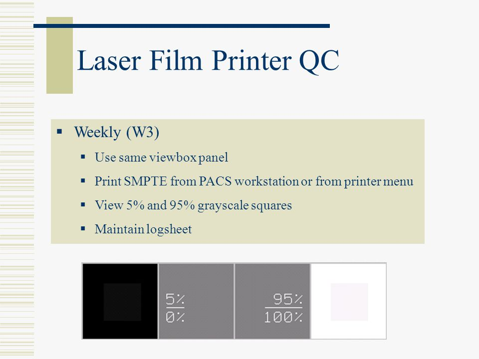 Laser Film Printer QC Weekly (W3) Use same viewbox panel