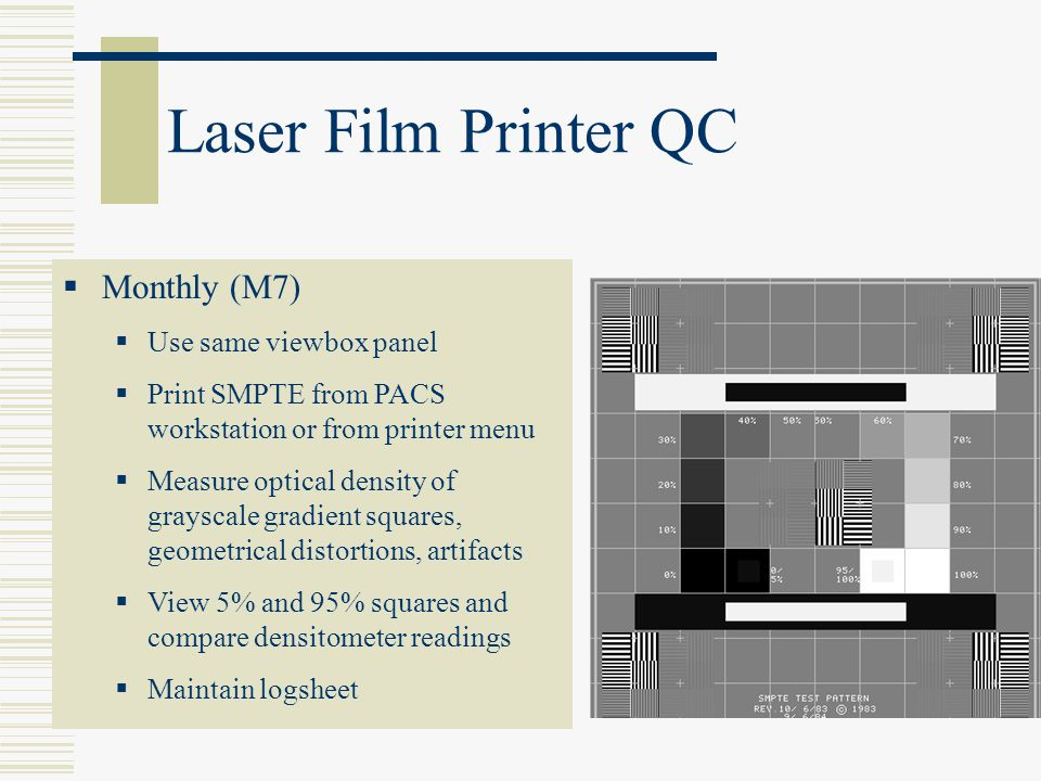 Laser Film Printer QC Monthly (M7) Use same viewbox panel