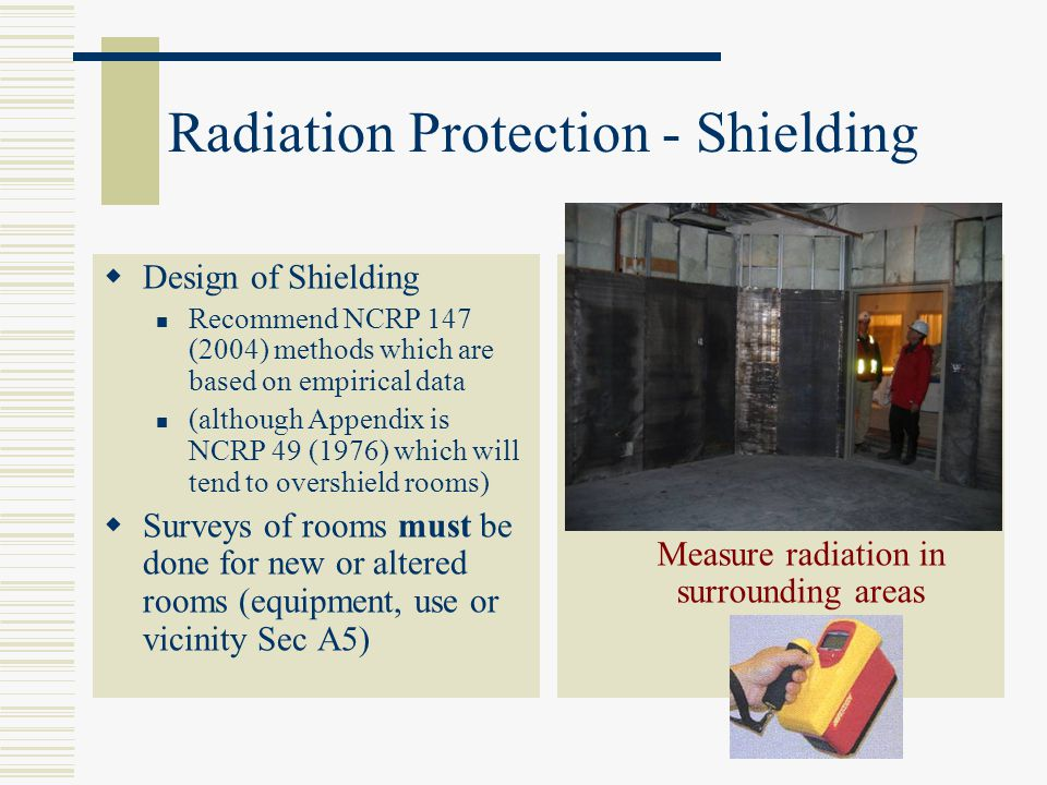 Radiation Protection - Shielding