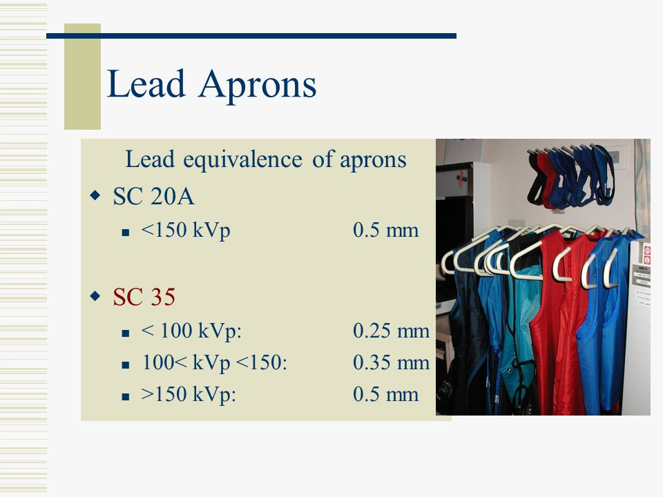 Lead equivalence of aprons