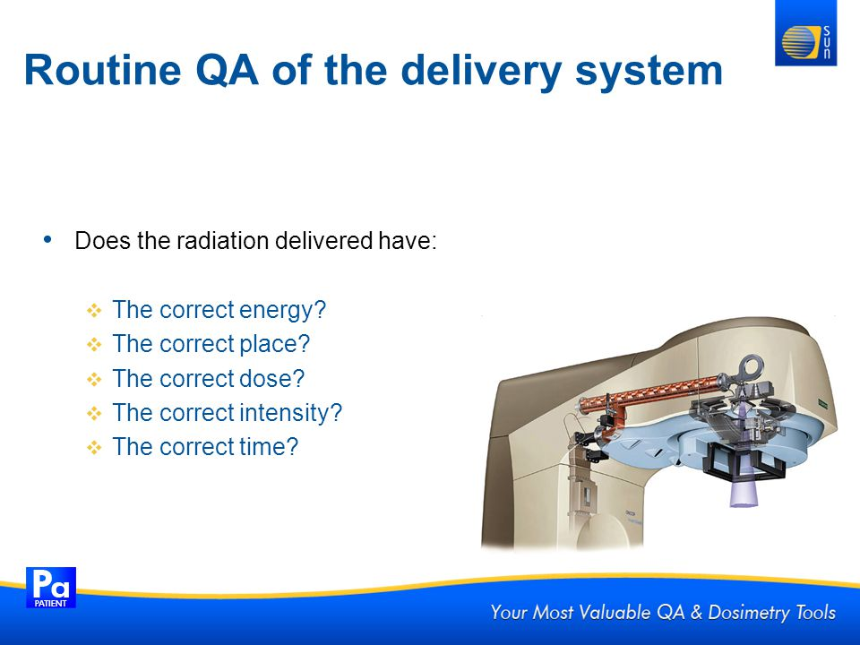 Routine QA of the delivery system