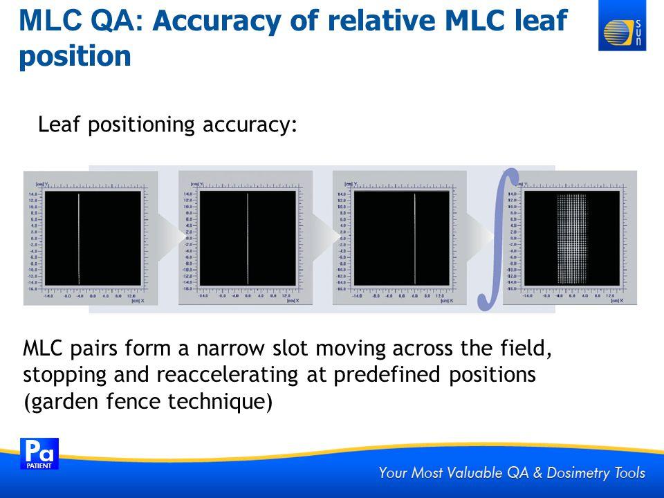 MLC QA: Accuracy of relative MLC leaf position