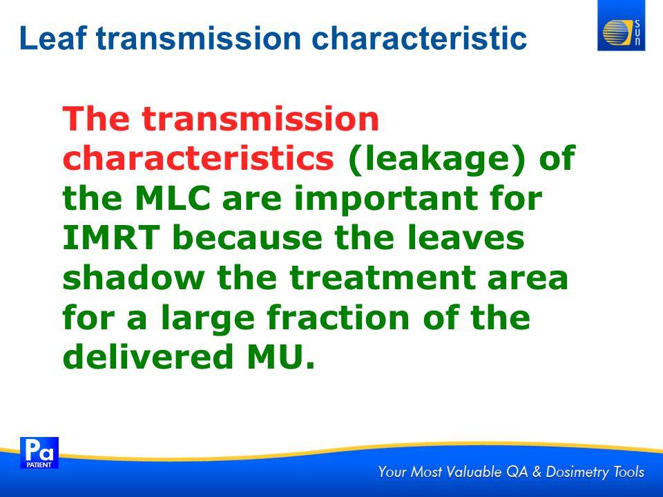 Leaf transmission characteristic