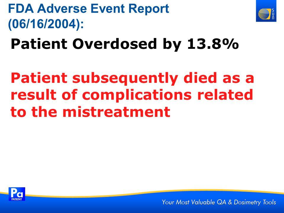 FDA Adverse Event Report (06/16/2004):