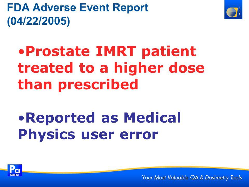 FDA Adverse Event Report (04/22/2005)