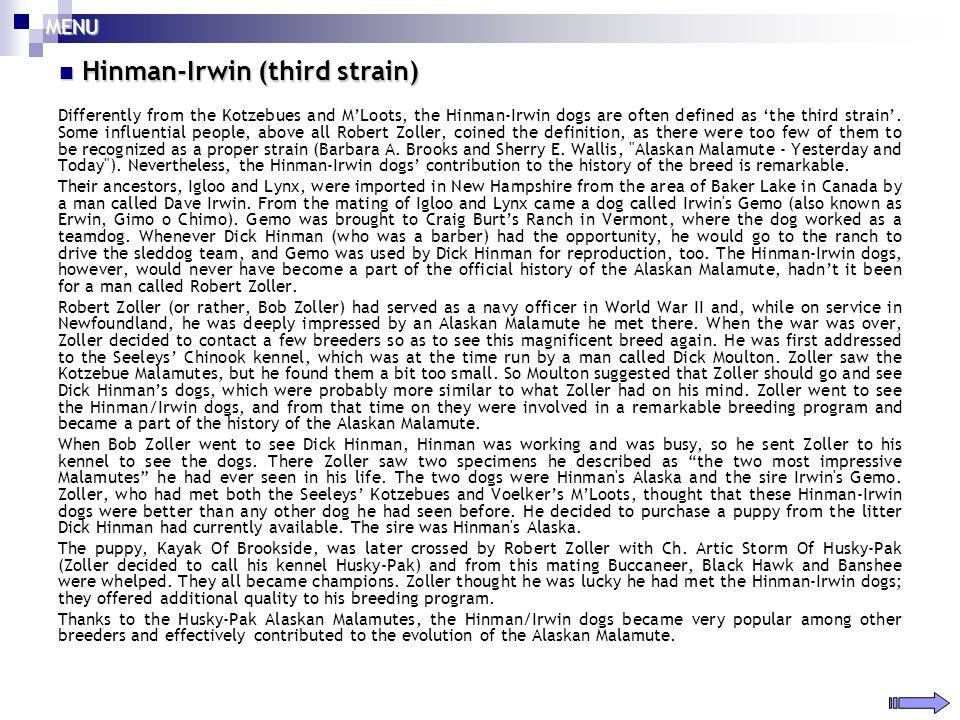 Hinman-Irwin (third strain)
