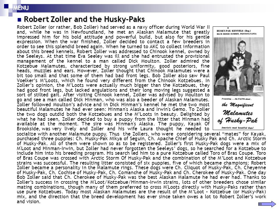 Robert Zoller and the Husky-Paks