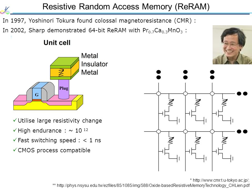 Resistive Random Access Memory (ReRAM)