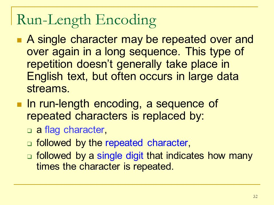 Run-Length Encoding