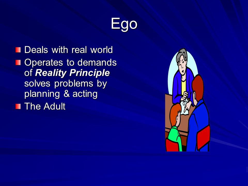 Ego Deals with real world